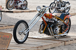 A Denver's Choppers survivor was found after being covered with a tarp in a garage since 1982! RSD Moto Beach Classic custom bike show. Huntington Beach, CA, USA. Sunday October 28, 2018. Photography ©2018 Michael Lichter.