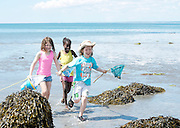 17/06/2014 Molly Garrad,  Darel Ajand and  Oscar Branton, from Kilcolgan educate together National School on a nature walk to Tracht beach near Kinvara Co. Galway for beach surveys, a swim and whole lot of educational fun . <br />   Photo:Andrew Downes