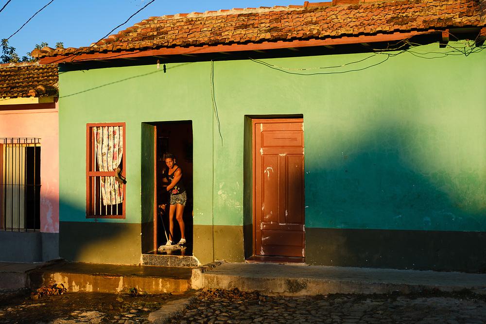 TRINIDAD, CUBA - CIRCA JANUARY 2020: Typical street scene in  Trinidad.