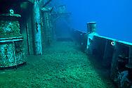 Main deck, starboard side, USS Kittiwake
