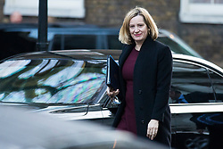 © Licensed to London News Pictures. 19/12/2017. London, UK. Home Secretary Amber Rudd arrives on Downing Street for the weekly Cabinet meeting. Photo credit: Rob Pinney/LNP