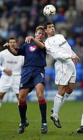 Photo. Aidan Ellis.<br />Bolton Wanderers v Portsmouth.<br />FA Barclaycard Premiership.<br />17/01/2004.<br />Bolton's Anthony Barness and Pompey's Teddy Sheringham