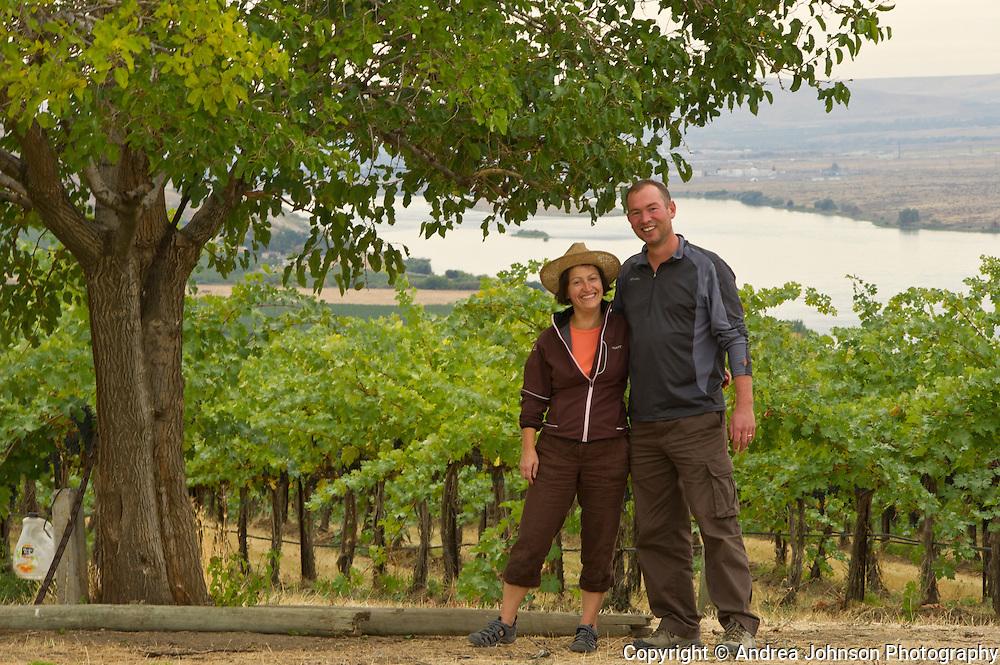 Marie-Eve Gilla, winemaker, Forgeron Cellars, & Gilles Nicault, winemaker Long Shadow Vitners, Walla Walla, Washington
