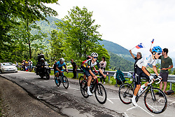 Kasper ANDERSEN of TEAM COLOQUICK and Viacheslav KUZNETSOV of GAZPROM – RUSVELO during 2nd Stage of 27th Tour of Slovenia 2021 cycling race between Zalec and Celje (147 km), on June 10, 2021 in Slovenia. Photo by Matic Klansek Velej / Sportida