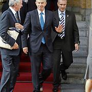 NLD/Amsterdam/20101012 - Oud premier van Engeland in het Amstel Hotel voor een interview