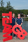 Caversham, Nr Reading, Berkshire.<br /> <br /> GBR LM2X. left William FLETCHER and Richard CHAMBERS Olympic Rowing Team Announcement  Press conference at the RRM. Henley.<br /> <br /> Thursday  09.06.2016<br /> <br /> [Mandatory Credit: Peter SPURRIER/Intersport Images] 09.06.2016,