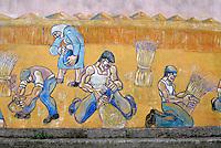Italie. Sardaigne. Peintures murales dans le village de San Sperate. // Italy, Sardinia, Mural painting on the village of San Sperate.