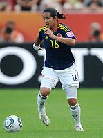 Fotball<br /> VM kvinner 2011 Tyskland<br /> 28.06.2011<br /> Sverige v Colombia<br /> Foto: Witters/Digitalsport<br /> NORWAY ONLY<br /> <br /> Lady Andrade (Kolumbien)<br /> Frauenfussball WM 2011 in Deutschland, Kolumbien - Schweden 0:1