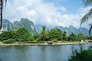 View of the Nam Song River,  Vang Vieng, Laos.