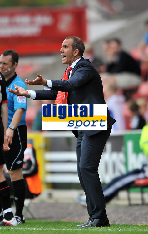 Swindon Town/Rotherham United N Power League 2 03.09.11<br />Photo: Tim Parker Fotosports International<br />Paolo Di Canio manager Swindon Town 2011/12