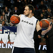Anadolu Efes's Ermal Kurtoglu during their Turkish Airlines Euroleague Basketball Top 16 Game 1 match Anadolu Efes between Galatasaray at Sinan Erdem Arena in Istanbul, Turkey, Thursday, January 19, 2012. Photo by TURKPIX