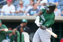 July 17, 2018 - Clearwater, FL, U.S. - TAMPA, FL - JULY 17: Taylor Trammell (5) of the Tortugas at bat during the Florida State League game between the Daytona Tortugas and the Clearwater Threshers on July 17, 2018, at Spectrum Field in Clearwater, FL. (Photo by Cliff Welch/Icon Sportswire) (Credit Image: © Cliff Welch/Icon SMI via ZUMA Press)