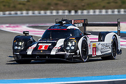 26.03.2016, Circuit Paul Ricard, Le Castellet, FRA, FIA, WEC, Teamvorstellung, im Bild PORSCHE 919 Hybrid #1, Timo BERNHARD (GER) Mark WEBBER (AUS) Brendon HARTLEY (NZL) // during the Presentation of the FIA WEC Teams for the upcoming Season at the Circuit Paul Ricard in Le Castellet, France on 2016/03/26. EXPA Pictures © 2016, PhotoCredit: EXPA/ Pressesports/ Pascal Huit<br /> <br /> *****ATTENTION - for AUT, SLO, CRO, SRB, BIH, MAZ, POL only*****