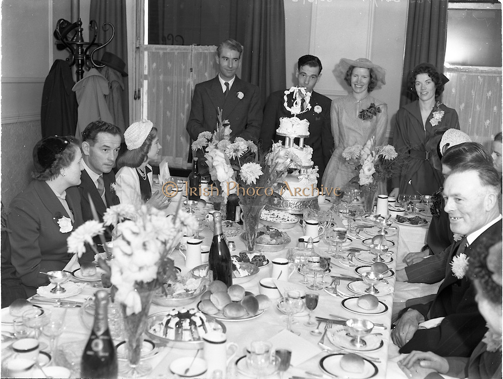 3/9/1952<br /> 9/3/1952<br /> 3 September 1952<br /> <br /> Wedding of Mr. Tutty and Miss Keogh at Jury's Hotel