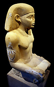 Seated Statue from the Tomb of Senwosretankh, Chief Priest of Ptah and Overseer of public Works. Egyptian Middle Kingdom, 12th-13th Dynasty, during the reign of Senwosret I–Amenemhat II. Circa 1930–1910 B.C.