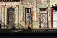 CIENFUEGOS, CUBA - CIRCA JANUARY 2020: Typical street of Cienfuegos