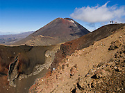 """Mount Ngauruhoe (2291 metres or 7516 feet elevation) last erupted in 1975 in Tongariro National Park, North Island, New Zealand. In 1990 and 1993, UNESCO honored Tongariro National Park as a World Heritage Area and Cultural Landscape. Tongariro National Park served as a location for fictional Mordor and Mount Doom in the """"Lord of the rings"""" Motion Pictures."""