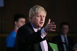 "© Licensed to London News Pictures . 15/04/2016 . Manchester , UK . Boris Johnson speaks at a "" Vote Leave "" rally at Old Granada Studios , in Manchester . Photo credit : Joel Goodman/LNP"