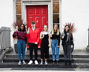 13/08/2019 Repro Free: Adithi Gowda 625, Fionn Duffy (543 points), Emily Macken (590), Caoimhe Laffey (589 Points) and Shelley Murphy (529)  who received their Leaving Certificate Results from Yeats College in Galway City. Photo:Andrew Downes, xposure.