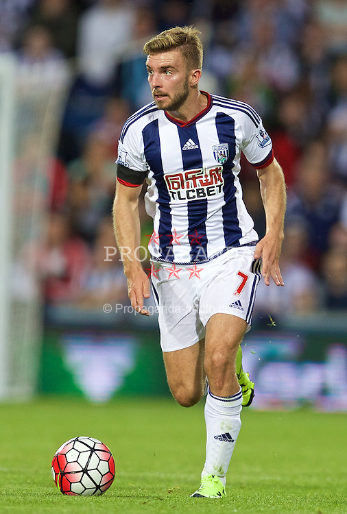 WEST BROMWICH, ENGLAND - Monday, August 10, 2015: West Bromwich Albion's James Morrison in action against Manchester City during the Premier League match at the Hawthorns. (Pic by David Rawcliffe/Propaganda)