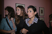 Jessica Morris, Sarah Murray and Serena Rees. JAKE AND DINOS CHAPMAN'S ' Like a dog returns to its vomit' White Cube, Hoxton Sq and afterwards at Vic Naylor's. St. John St. London.   18 October 2005. ONE TIME USE ONLY - DO NOT ARCHIVE © Copyright Photograph by Dafydd Jones 66 Stockwell Park Rd. London SW9 0DA Tel 020 7733 0108 www.dafjones.com