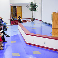 Author Roxanne Duncar-Ortiz delivers a guest lecture Tuesday at Diné College in Tsaile.