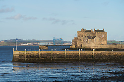 View of Blackness Castle on the Firth of Forth in village of Blackness, Scotland, UK. Location of Outlander TV show,