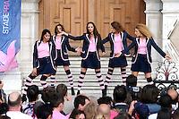 danseuses Stade Francais  - 15.06.2015 - Presentation du bouclier de Brennus par les joueurs du Stade Francais a l'Hotel de Ville - Paris <br /> Photo : Nolwenn Le Gouic / Icon Sport