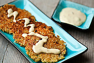 Quinoa Fritters with garlic aioli