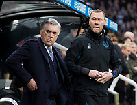 Football - 2019 / 2020 Premier League - Newcastle United vs. Everton<br /> <br /> Everton manager Carlo Ancelotti with his assistant manager Duncan Ferguson, at St James' Park Stadium.<br /> <br /> COLORSPORT/BRUCE WHITE