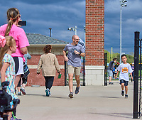 Over 750 area elementary students participated in the 2nd Annual Nolensville Community Kids Marathon at Nolensville High School on Sunday April 14, 2019.<br /> Photo: Harrison McClary/News & Observer