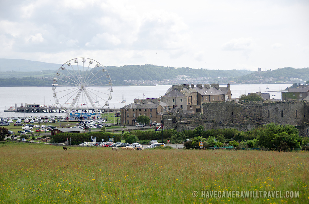 A view of Beaumaris on the island of Anglesey of the north coast of Wales, UK.