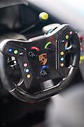 November 12-14, 2020. IMSA Weathertech Mobil1 Sebring 12h: #16 Wright Motorsports, Porsche 911 GT3 R, steering wheel detail