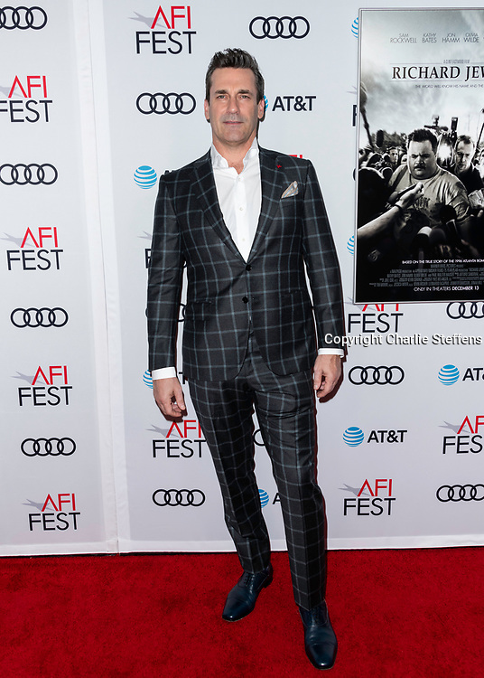 Jon Hamm attends the World Premiere Gala Screening of 'Richard Jewell' at AFI Fest on November 20, 2019 at TCL Chinese Theatre in Los Angeles, California