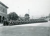 1930 Fire Department personnel at new fire station on Cahuenga Blvd. & DeLongpre Ave.
