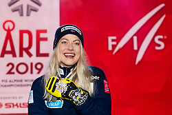 February 8, 2019 - …Re, SWEDEN - 190208 Ragnhild Mowinckel of Norway celebrates at the medal ceremony for the women's combination during the FIS Alpine World Ski Championships on February 8, 2019 in Ã…re  (Credit Image: © Daniel Stiller/Bildbyran via ZUMA Press)