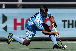 Varun Kumar of India during the Champions Trophy finale between the Australia and India on the fields of BH&BC Breda on Juli 1, 2018 in Breda, the Netherlands.