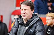 Barnsley manager Daniel Stendel before the EFL Sky Bet League 1 match between Walsall and Barnsley at the Banks's Stadium, Walsall, England on 23 March 2019.