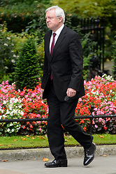 © Licensed to London News Pictures. 21/09/2017. London, UK. Secretary of State for Exiting the European Union DAVID DAVIS  arrives for a cabinet meeting in Downing Street. Photo credit: Ray Tang/LNP