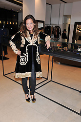 JADE JAGGER at an evening hosted by Jade Jagger promting her jewellery held at Joseph, 77 Fulham Road, London SW3 on 21st November 2012.