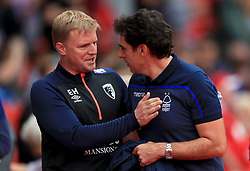Nottingham Forest's manager Aitor Karanka (right) and AFC Bournemouth's manager Eddie Howe before the pre-season friendly match at the City Ground, Nottingham.