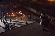 """Protestas por la desaparición forzada de 43 estudiantes de la Escuela Normal Rural """"Raúl Isidro Burgos"""" ocurrida el 26 de septiembre de 2014. <br /> Caravana de Madres Centroamericanas, Tenosique, Tabasco, 20 de noviembre de 2014. (Foto: Prometeo Lucero)"""