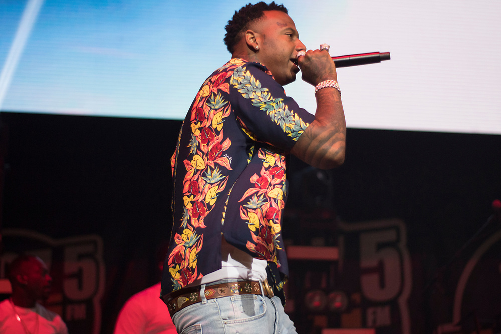 Moneybagg Yo performs at the WGCI Summer Jam at the United Center in Chicago, IL on July 26, 2018.