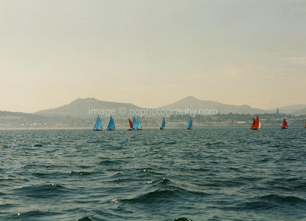 Sailing in Dublin Bay Ireland