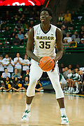 WACO, TX - JANUARY 7: Johnathan Motley #35 of the Baylor Bears brings the ball up court against the Kansas Jayhawks on January 7, 2015 at the Ferrell Center in Waco, Texas.  (Photo by Cooper Neill/Getty Images) *** Local Caption *** Johnathan Motley