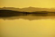 After sunset at El-Mansour Eddabbi dam, Ouarzazate, Morocco.