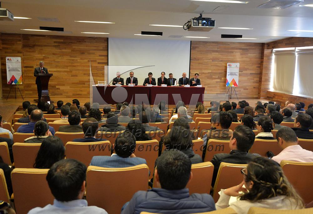 Toluca, México.- (Febrero 27, 2018).- Panel Mexiquense de la Agenda 2030 y Gobernanza Metropolitana realizado en el Museo de las Torres Bicentenario de la ciudad de Toluca. Agencia MVT / Crisanta Espinosa.