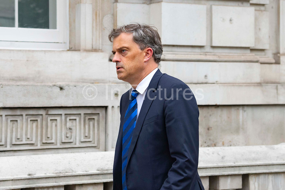 Julian Smith, Secretary of State for Northern Ireland leaving the Cabinet Office in London, United Kingdom on 10th September 2019.