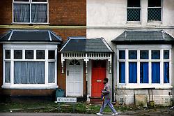 Terraced houses in Erdington, Birmingham, West Midlands, England, UK.