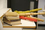 Detail of wood samples in furniture designer Leonhard Pfeifer's Hackney studio, London<br /> CREDIT: Vanessa Berberian for The Wall Street Journal<br /> GURU-Pfeifer
